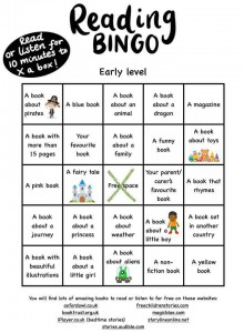 Early Level Reading Bingo