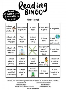 First Level Reading Bingo